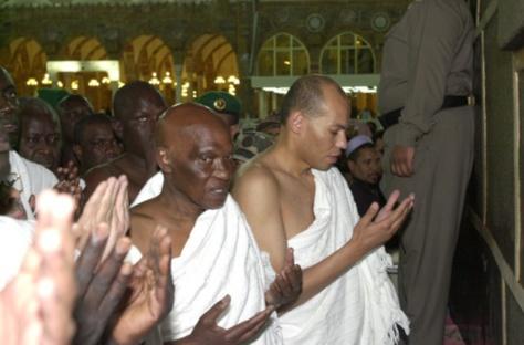 "Me Abdoulaye Wade, Karim Meissa Wade, Me Madické Niang, Oumar Sarr, Pape Diop , un représentant de ""Rewmi"" d'Idrissa Seck, Malick Gackou...en Arabie Saoudite pour le ""Oumra"""