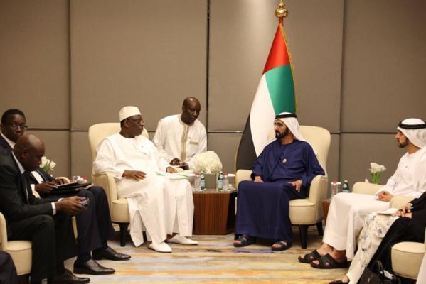Lors de son dernier voyage à Dubai, Macky Sall s'était entretenu avec le Cheikh Mohammed ben Rachid Al Maktoum, vice-Président, Premier Ministre des Émirats Arabes Unis et Émir de Dubaï.