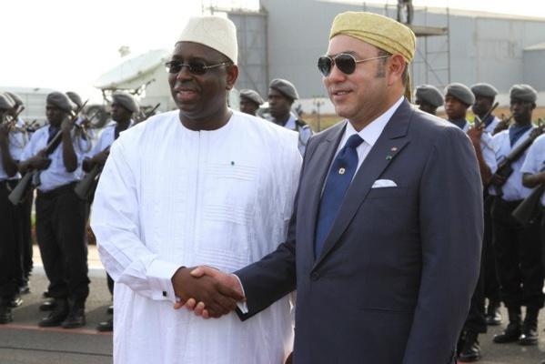 Le Président Macky Sall et le roi Mohamed 6 du Maroc