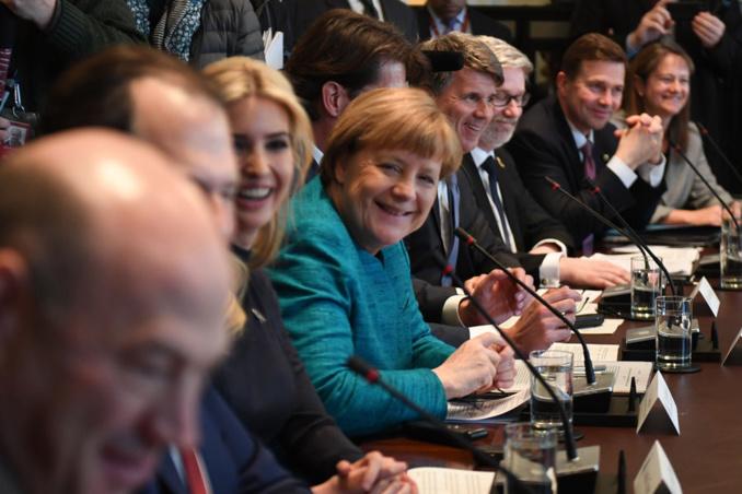 A la Maison Blanche, Angela Merkel a aussi rencontré... Ivanka Trump :: regardez en quelques clichés