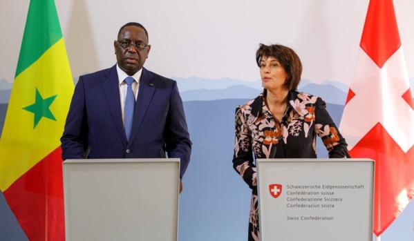 Le Chef de l'Etat Macky SALL a donné une Conférence de Presse conjointe avec la Présidente de la Confédération suisse Doris Leuthard.