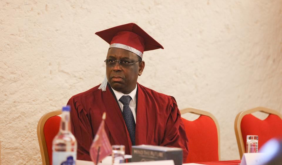 Le Président Macky Sall, Docteur Honoris Causa de la Genève School of Diplomacy & International Relations