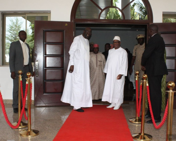 Visite de courtoisie de Moustapha Cissé Lo au Président de la République du Mali  S.E Ibrahim Boubacar KEITA,ce vendredi, à Bamako