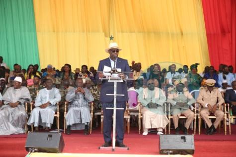 Le président Macky Sall à l'inauguration du Quai de Pêche de Potou
