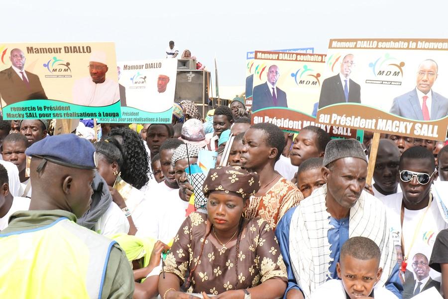 Photos : Les images de l'accueil des partisans de Mamour Diallo lors de l'inauguration du quai de pêche de Potou