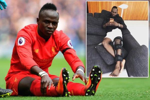 Fin de saison pour Sadio Mané, il va subir une opération