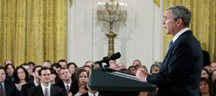 George Bush fait ses adieux aux Américains