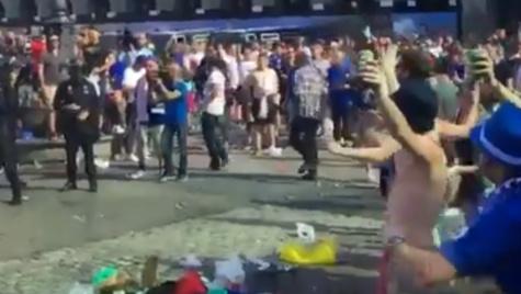 Atlético-Leicester: altercation entre des fans anglais et la police à Madrid... sur fond de Gibraltar