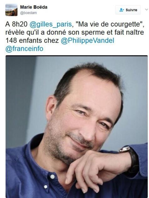 """""""J'ai fait naître 148 enfants"""": L'écrivain Gilles Paris était donneur de sperme"""