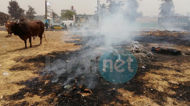 "PHOTOS: Incendie à Sicap Mbao ""Fora"""