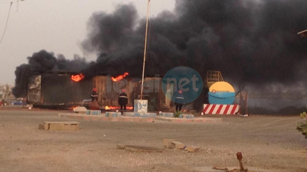 Incendie à la station du quai de pêche de l'Hydrobase de Saint Louis en images