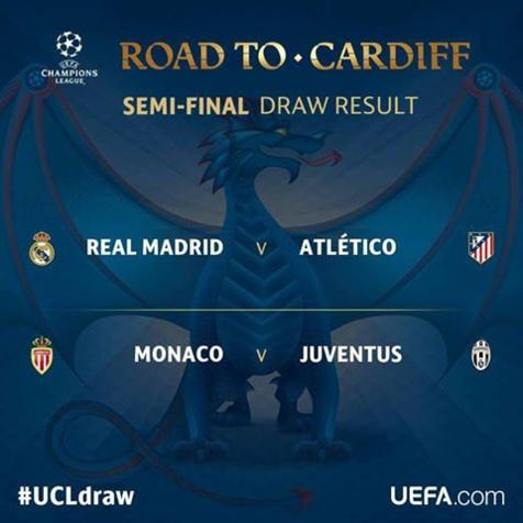 Ligue des Champions: La Juventus Turin pour l'AS Monaco, un derby Real-Atlético