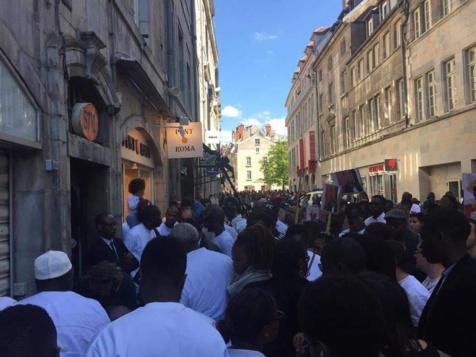 Hommage rendu à Mamadou Lamine Diédhiou, ce Sénégalais tué en France (Besançon), il y a quelques jours