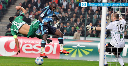 PHOTOS - France Ligue 1 - St Etienne 0 - OM 3: impressionnant Mamadou Niang