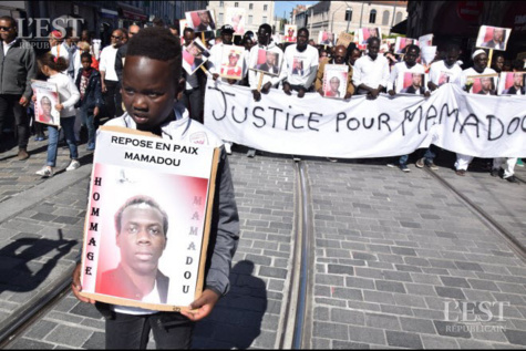 La « marche blanche » du 29 avril dernier à la mémoire de la victime, Mamadou Lamine Diedhiou