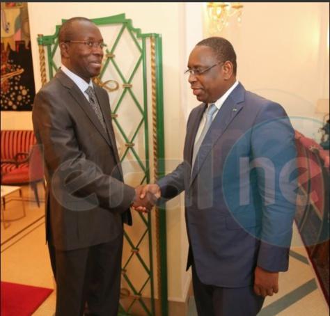 Le Président Macky Sall a reçu  au palais l'ancien P.M Souleymane Ndéné Ndiaye, SG de l'Union Nationale pour le Peuple Bokk Diemou