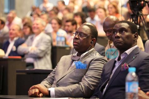 Cheikh Kanté, Dg du Port autonome de Dakar en compagnie du Président Macky Sall..