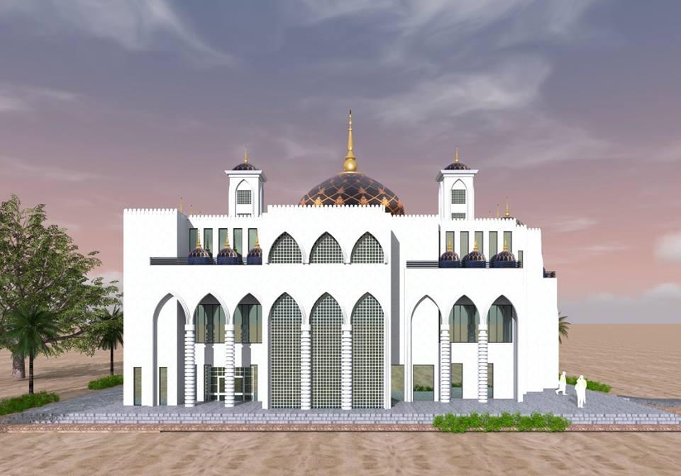 Pose première pierre de la grande Mosquée Cheikh Ahmadou Kabir Mbaye (Keur Mame Cheikh Mbaye), père de Djily Mbaye et Serigne Sam Mbaye