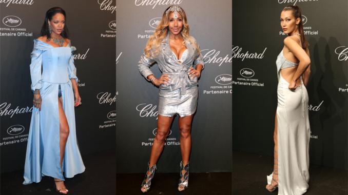 Cannes 2017: Rihanna montre sa culotte, Cathy Guetta montre tout le reste à la soirée Chopard