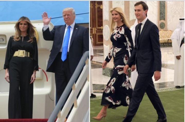 """Melania et Ivanka Trump sans voile en Arabie saoudite... comme Michelle Obama que Donald Trump jugeait, """"insultante"""""""