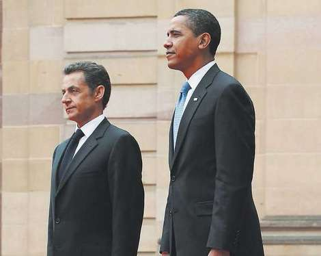 Obama rencontre Sarkozy en Normandie