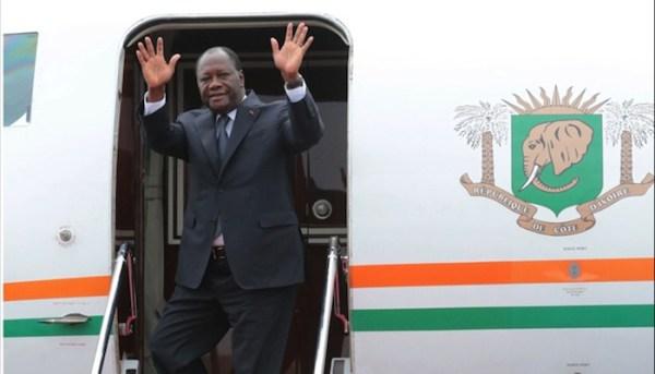 Alassane Ouattara, premier chef d'Etat africain reçu par Macron