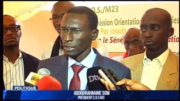 Législatives : la COS/M23 et son Président Abdourahmane SOW ne sont engagés dans aucune coalition ou liste électorale