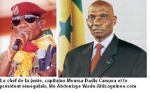 """Menaces d'attaques contre la Guinée:""""Je fais entièrement confiance au Président Wade"""", dixit le chef de la junte"""
