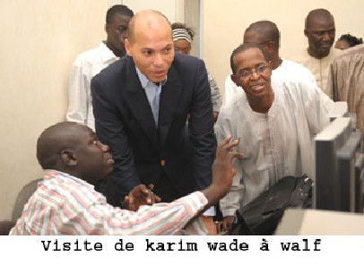 Photo : En gros plan Kaim à gauche, Sidy à droite.