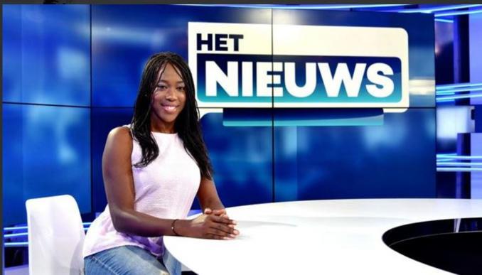 Première femme noire présentatrice en Belgique