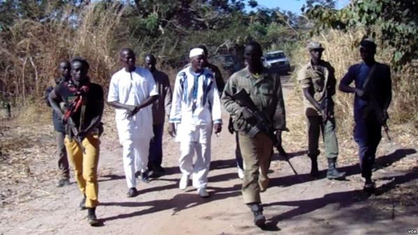 Des membres du Mouvement des forces démocratiques de Casamance.