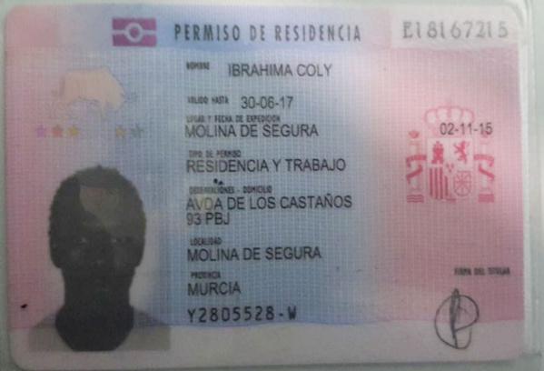 Avis de décès: Ibrahima Coly, décédé des suites d'une longue maladie á l'hôpital Arrixaca de El palmar