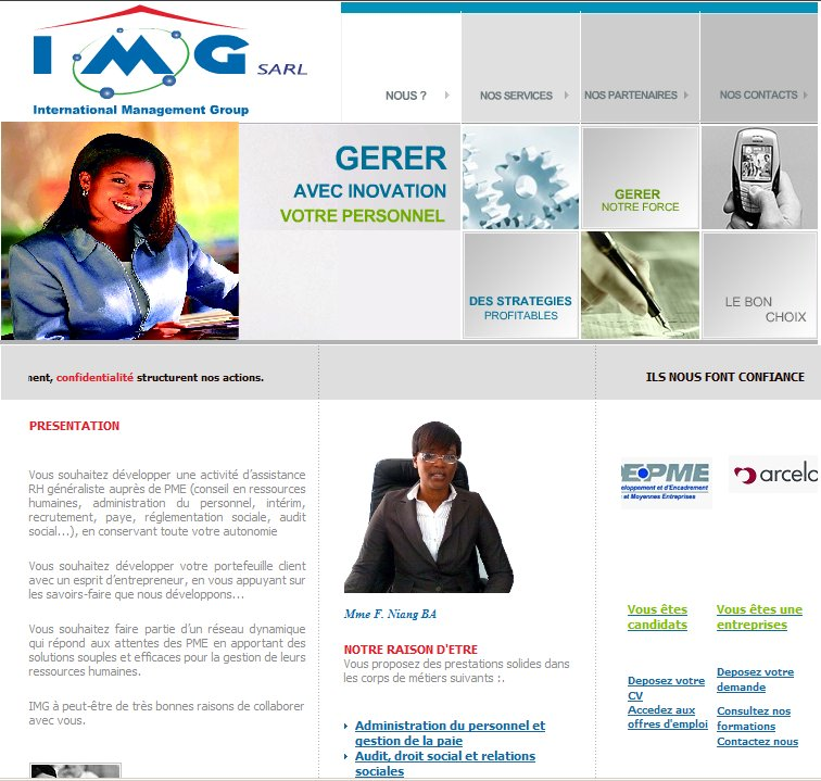 Urgent : IMG  - International Management Group.