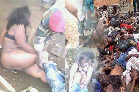 Des photos de Guinéennes maltraitées lundi circulent sur le Net