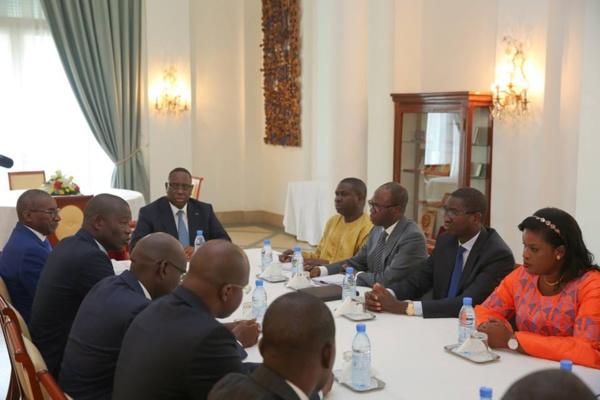 6 photos : Macky Sall a reçu au Palais l'Union des Magistrats du Sénégal