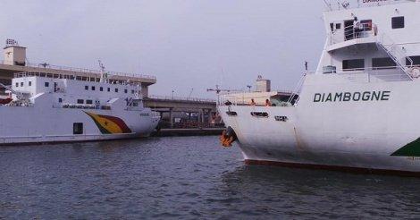 """""""Diambogne"""" endommagé après un accident au Port:  l'État réclame 2,7 milliards au groupe Grimaldi"""
