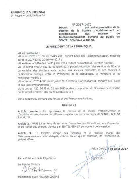 Abdou Latif Coulibaly à propos de Wari-Milicom : « L'État s'est donné un délai pour procéder à des vérifications avant de signer le décret d'approbation »