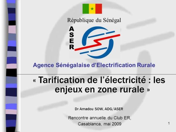 Electrification rurale : L'ASER vers un nouveau Contrat de performance
