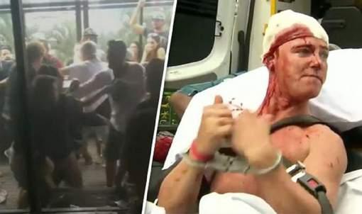 Vidéo-Une violente bagarre éclate en rue après le duel Mayweather-McGregor