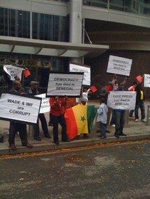 Les Sénégalais d'Amérique réclament la démission de Wade