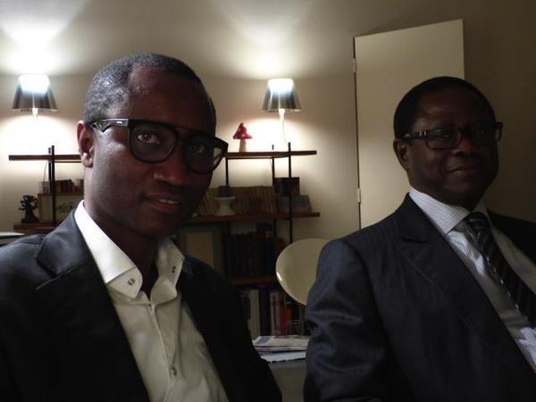 Ibrahima Thiam (à gauche) vient de démissionner du Bokk Gis Gis le parti fondé par Pape Diop (à droite) et dont il dirigeait la fédération en France