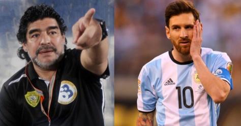 """Diego Maradona tacle Messi après son triplé : """"C'est uniquement avec le Fc Barcelone qu'il peut jouer"""""""