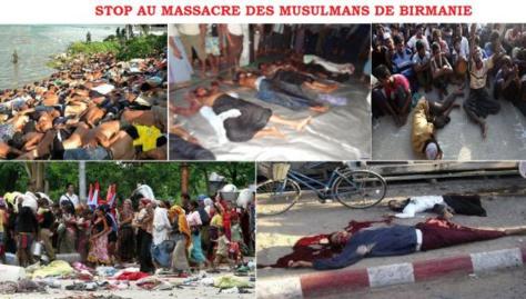 Massacre des musulmans birmans : JAMRA appelle à une Marche de protestation vendredi prochain!