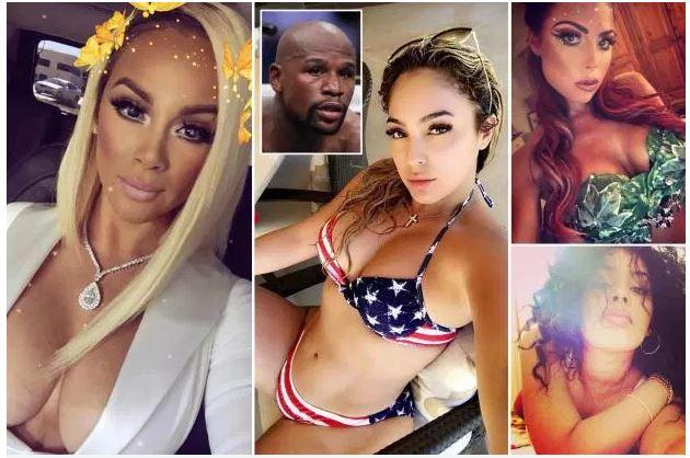 """Photos : Floyd Mayweather : """"J'ai sept petites amies"""", contemplez les 7 nymphes de l'excentrique boxeur"""