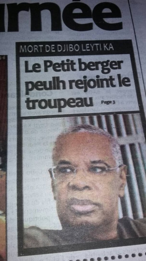 """Les internautes dégoûtés par le titre """"choquant"""" de """"Libération"""" sur Djibo Ka"""