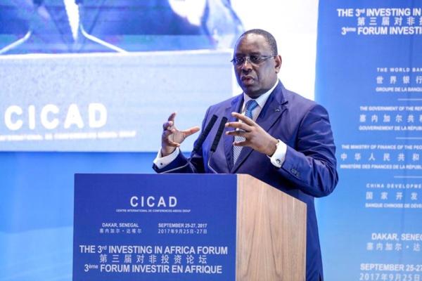 """Le chef de l'Etat a présidé la troisième édition du Forum """"Investir en Afrique"""" au CICAD Diamniadio."""