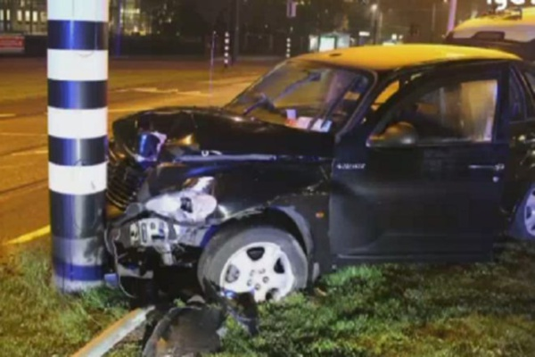 Le taxi qui transportait Sergio Agüero.Newsweb