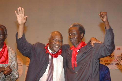 De gauche à droite, Amath Dansokho et Maguette Thiam, ex-SG du PIT