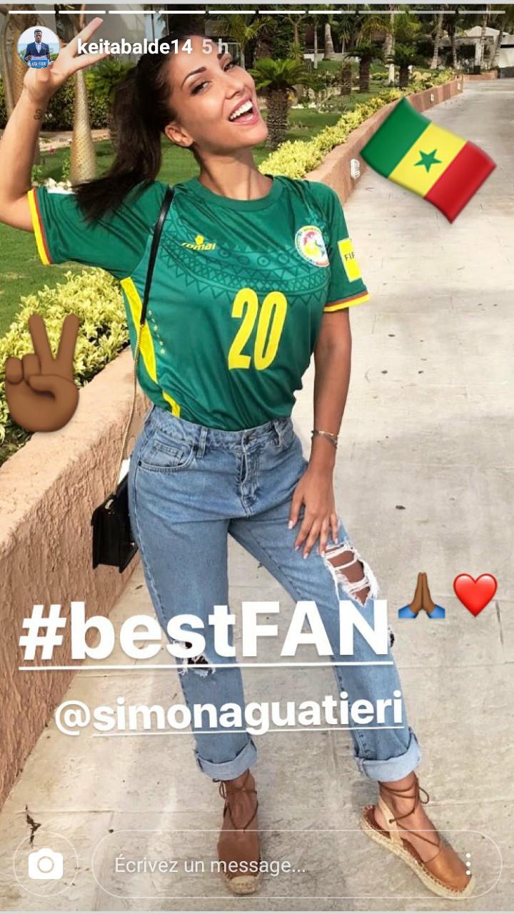 (Photos) Regardez comment Simona, la copine de Diao Baldé supporte le Sénégal !!