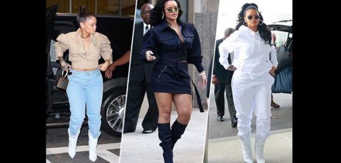 Quand Rihanna se livre à un « défilé » digne de la Fashion Week Newyorkaise